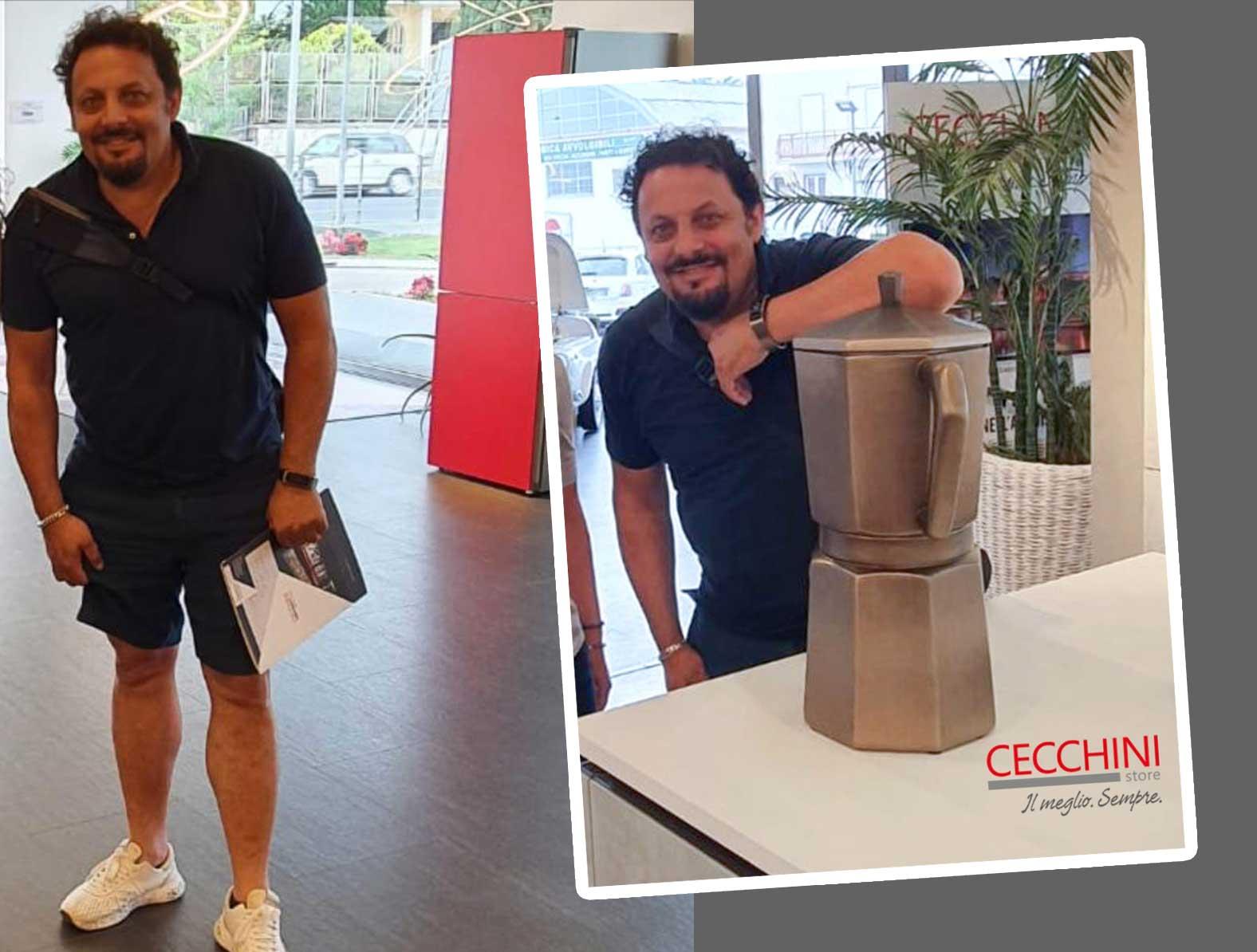 Enrico Brignano da Cecchini Store